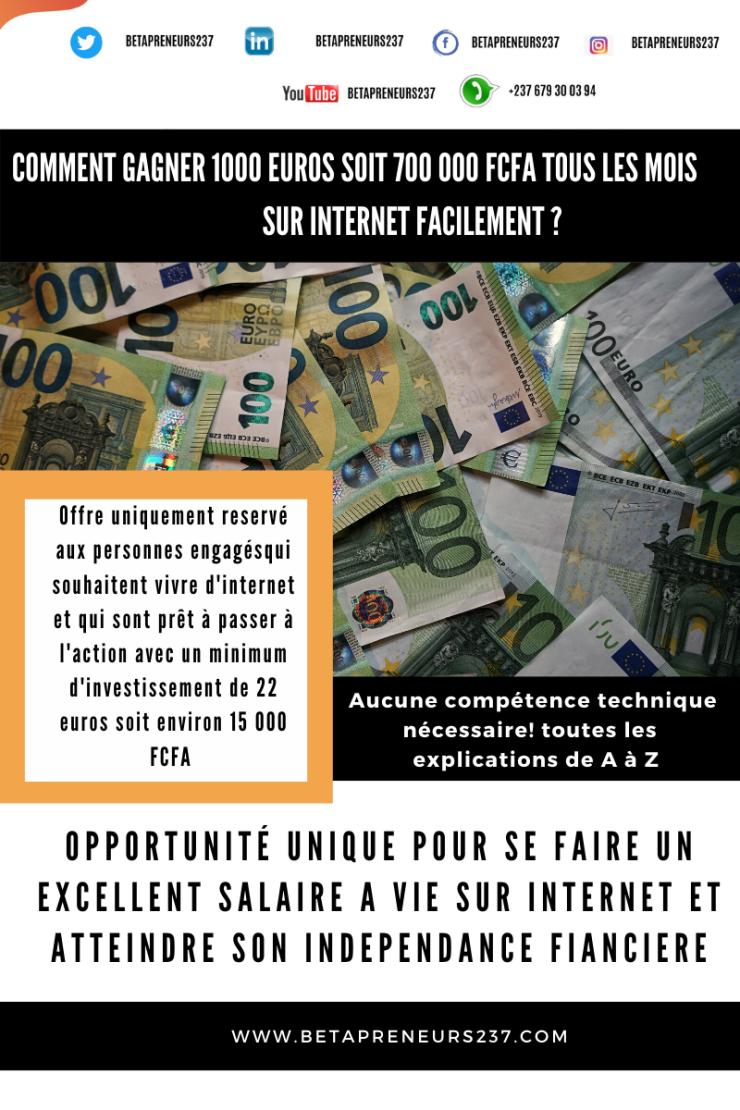 gagner 1000 euros