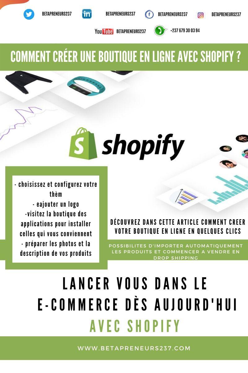 Comment créer une boutique en ligne avecSHOPIFY?